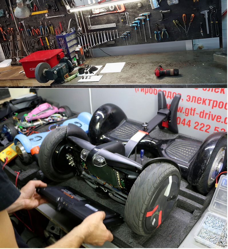 ремонт гироскутеров Hoverbot