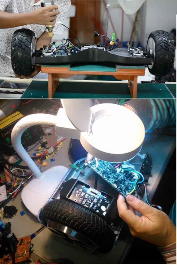 ремонт покрышки гироскутера в мастерской