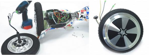 ремонт колеса гироскутера