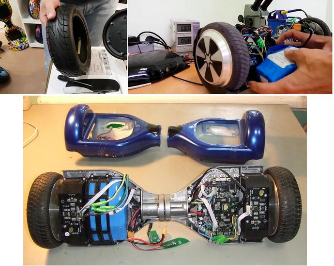 ремонт колес гироскутеров