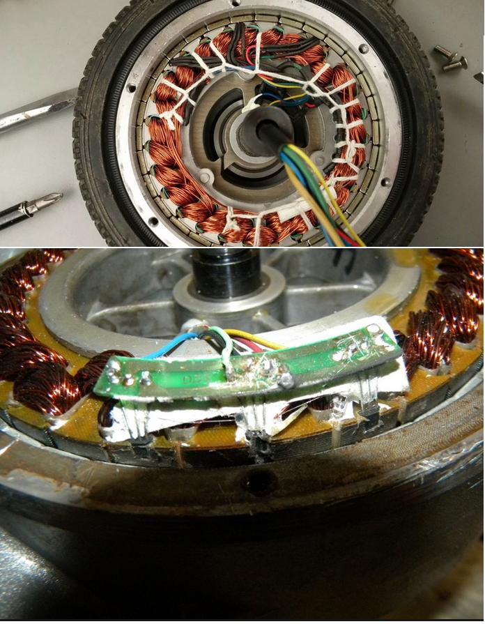 ремонт двигателя гироскутера
