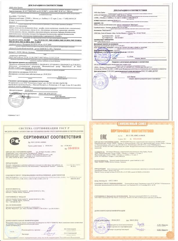 официальный сертификат
